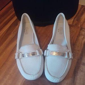Coach White Slip on Shoes